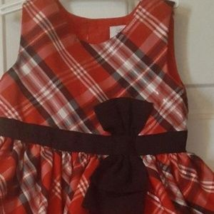 NWT Carter's Toddler Holiday Dress Red 18 mns